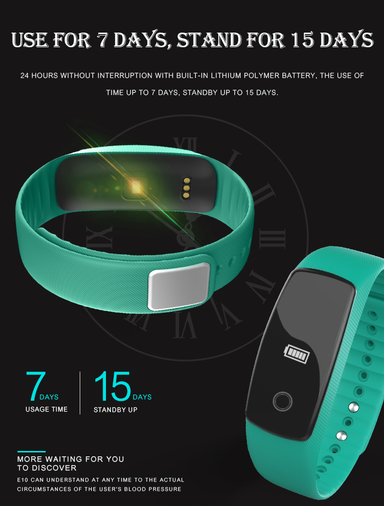 Original LETIKE WP109 colorful Smart Bracelet Heart Rate Monitor Fitness Tracker Smartband IP67 PRO Smart Wristband For APP 10