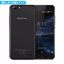 Original Blackview A7 5.0 Inch HD Dual Rear Camera Smartphone MT6580A 1GB RAM 8GB ROM Quad Core Android 7.0 2800mAh Mobile Phone(China)