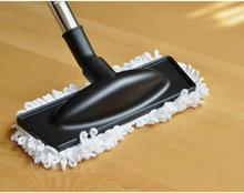 Vacuum Mophead Nozzle with White Microfiber Dust Fringe 1.25inch Floor Brush with Mop Pad Clean & Mop Tool Assembly