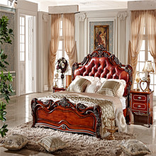Classic King Size Bedroom Set/ European Style Hotel Furniture/ Alibaba Italian hand carved wooden bedroom furniture(China)