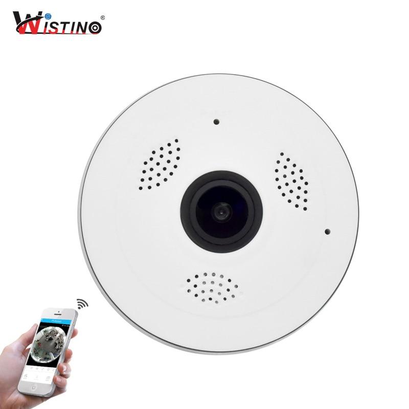 Wistino CCTV HD 960P WIFI IP Camera Alarm Wireless VR Panoramic Camera Fisheye 360 Degree Video Baby Monitor Home Surveillance<br>