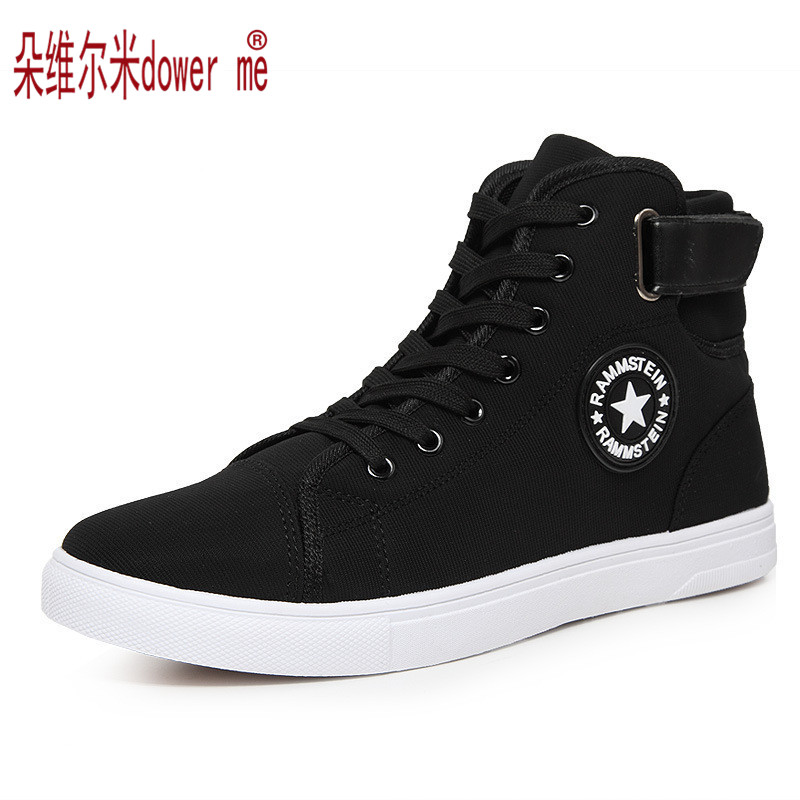 High Quality Men Canvas Shoes 2017 Fashion High top Mens Casual Shoes Breathable Canvas Man Lace up Brand Shoes Black ZH307<br><br>Aliexpress