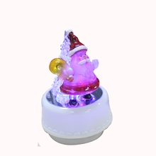 LED Light Jingle Bells Music Box Christmas Gift Toy Santa(China)