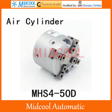 MHS4-50D double acting pneumatic cylinder gripper pivot gas claws parallel air 4-fingers SMC type cylinder
