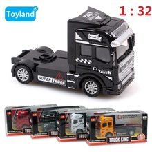 Best Quality Container Truck Kids Toys Car 1:32 Pull Back Hot Wheels Alloy Plastic Toy Model Cars Children's Gift