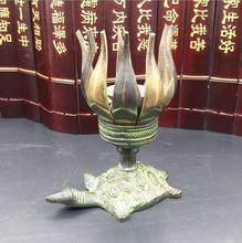 SUIRONG---2017 821+++Pure copper casting, Nepal craft lotus candle holder, movie and TV props, home decoration(China)