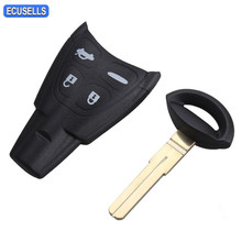 5 Pcs/Lot Remote Key Shell Smart Car Key Case for Saab 9-3 93 Sport Sedan Convertible 2003 2004 2005 2006 2007 Uncut Blade(China)