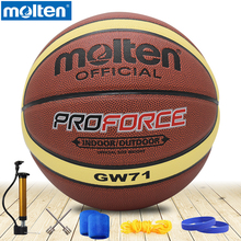 original molten basketball ball GW71 NEW Brand High Quality Genuine Molten PU Material Official Size7 Basketball free shipping(China)