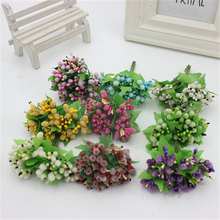 Simulated wreath material wholesale pearl berry fruit decorated sugar cane hat 1 bunch 12 flowers
