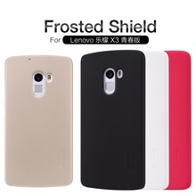 Original Nillkin Super Frosted Shield Hard Back PC Cover Case For Lenovo Vibe X3 Lite(K4 Note) Phone Case + Screen Protector