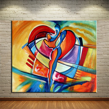 NO FRAMEHand Painted SQUARE CUBIC ABSTRACT Oil Painting Canvas Prints Wall Painting For Living Room Decorations wall picture art