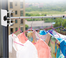 Windowsill clothes-horse clothes rail frame hang the garment artifact dormitory balcony window scale small outdoor clothes rack