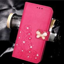 Wallet Case Luxury Leather Flip Cover sFor Apple iPod Touch 5 / 6 case For coque iPod Touch 5 touch 6 Glitter Diamond Case(China)