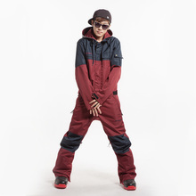 Free shipping Ski suit coverall male set single windproof waterproof thickening plus size professional ski jacket+ski pant