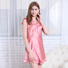 Spring Newest 4 Color Silk Maternity Ruffles Robe Dress V-Neck Femme de nuit Pregnancy Casual Home wear Sexy Pajamas