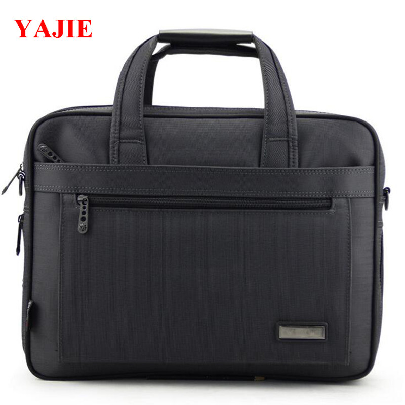 2017 YAJIE Business Mens Briefcase Luxury Brand 14 Inch Mens Laptop Bag Large Capacity Single Shoulder Bag For Male M422<br>