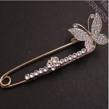2016 Korean version of the new jewelry noble butterfly brooch refined corsage manufacturers wholesale