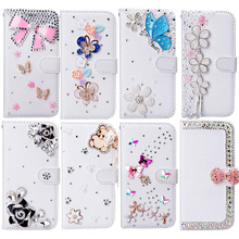 Card Slots Case For iPhone iPod touch 6/touch 5 , Bling Crystal Diamond Leather Wallet Stand Flip Case Cover(China)