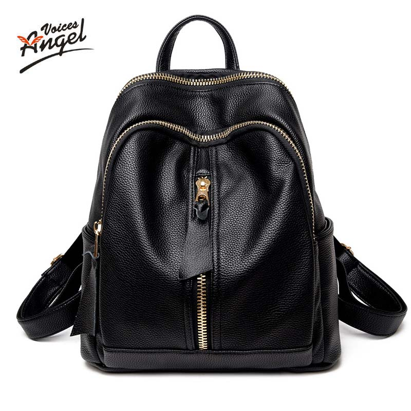 New 2017 100% Real Soft Genuine Leather Women Backpack Woman Korean Style Ladies Strap Laptop Bag Daily Backpack Girl School Red<br>