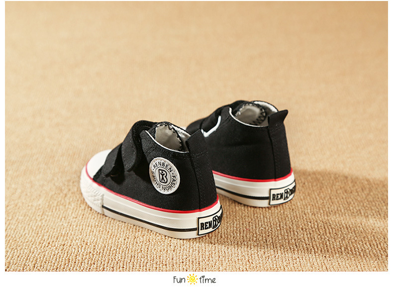 Baby shoes Girl Children Canvas shoes Boys 17 Spring Autumn Fashion High Cotton-made Baby girl little kids shoes 22