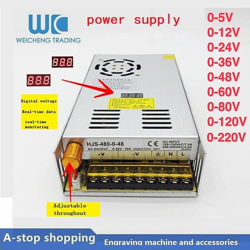 Adjustable Power Supply 0-12V 40A 480W HJS-480-0-12 DC voltage regulated SMPS