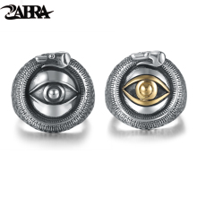 ZABRA Solid 925 Sterling Silver 2 Color God Lord Eye Ring for Men Women Lovers Thai Silver Vintage Punk anel de prata masculino