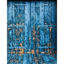 12 ft vinyl cloth blue mottled portrait door photo studio backgrounds for wedding model photocall photography backdrops S-2250