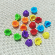 mix color flower beads fringe fiber caps necklace end tassel earring finding making spacer Charms bracelet rope Connector bijoux