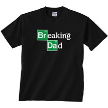 Funny Clothing Casual T Shirts  Daft Baby ~ Breaking Dad Funny Toddler Infant Kids T-Shirt Short Men Crew Neck Best Friend