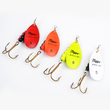 1PC 4 Color Size0-Size5 Fishing Hard Lure Bait Leurre Peche Mepps Spoon Fishing Tackle Vissen Pesca Acesorios