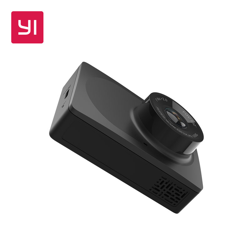 YI Compact Dash Camera 1080p Full HD Car Dashboard Camera with 2.7 inch LCD Screen 130 WDR Lens G-Sensor Night Vision Black<br>