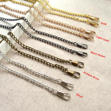 Bag Part Chains Coin Purse Locker Pattern Rope Handle Strap Supply Accessory Chain Metal Purse Handbag Chains China Factory(China)