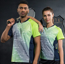 New design Running Gym fitness Sport outdoor Quick Dry breathable badminton shirt,Women/Men table tennis short sleeve T Shirts