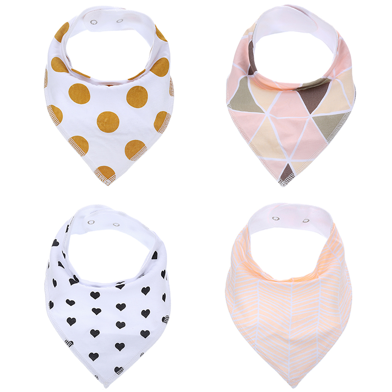 Cotton Baby Bandana Drool Bibs for Boys and Girls,6 Pack Soft Bibs With Snaps