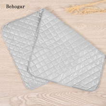 Behogar 48 x 85cm Pure Cotton New Ironing Board Folding Pads Mat Protective Press Mesh Iron Heat-resistant Board Cover Blanket(China)