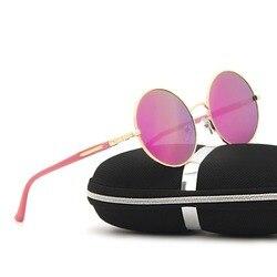 SAYLAYO винтажные стимпанк Солнцезащитные очки Круглые ретро металлические паровые панк для женщин и мужчин Покрытие Солнцезащитные очки Oculos ...