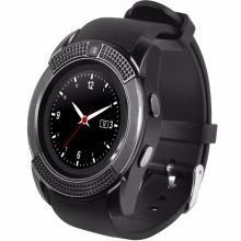 TimeOwner V8S Full Circular Screen SmartWatch SIM Card Phone Watch TF Card Bluetooth Watch Wristwatch For Android Phone Samsung