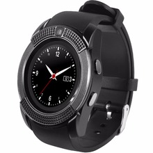 TimeOwner V8S Smart Watch SIM Card Phone Watch TF Card Music Watch Wristwatch Call Notification For Android Phone PK DZ09(China)
