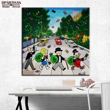 in the road Alec monopoly Graffiti art print canvas for wall art decoration oil painting wall painting picture No framed M57