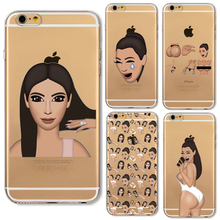 Ugly Crying Face KIMOJI Unique Design Case For iphone 5 5s SE 6 6s Plus 6Plus Transparent Silicone Cell Phone Cases Cover