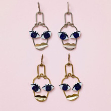 2017 Name Brand Jewlery Retro Exaggerated Face Statement Drop Earrings For Women Sexy Big Eye Lips Long Earrings Girls Bijoux