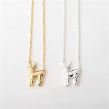 New Fashion Cute Deer Necklace  Woodland Reindeer Necklaces lovely Fawn necklace  Animal Jewelry