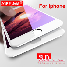 3D Tempered Glass For iPhone 7 Plus Full Cover Curved Edge Films case for Apple iPhone 6 6S i7 i6 6 S plus Protective film Case(China)