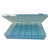 Portable 36-Grid Clear Hard Plastic Adjustable Jewelry Organizer Box Storage Container Case with Removable Dividers (Blue)(China)
