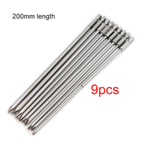 9pcs 200mm Magnetic Cross Philips Screwdriver Bit Set 1/4 inch 6.35mm Shank S2 alloy steel Long Hex Screwdriver Screw