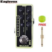 Mooer 006 Classic Deluxe Micro Dual Channel Preamp Guitar Effect Pedal with Free Connector and Footswitch Topper