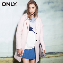 ONLY Brand NEW women fashion elegant high quality solid WOOL Trench Coat female Mantle Outerwear Woolen cloth 11534S013(China)