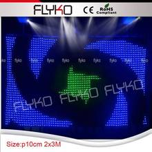 american dj lighting control programs led stage cutain for dj booth(China)