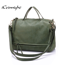iCeinnight 2017 fashion big womens bags soft leather handbag grey women soft bag summer shoulder bag vintage messenger bag cheap