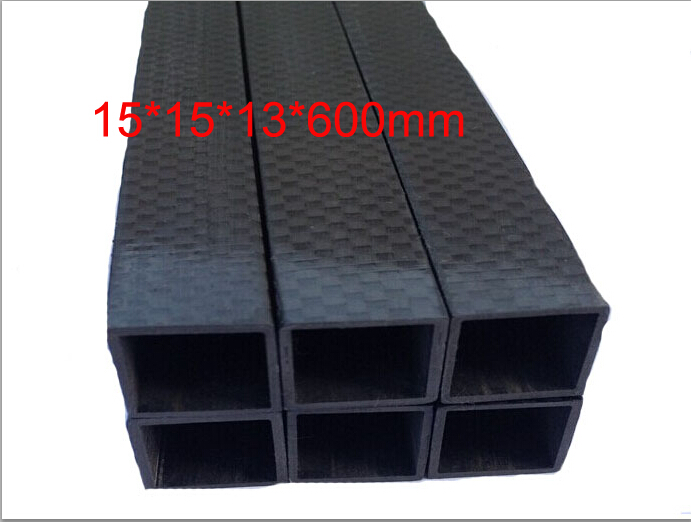 2pcs free shipping Square full carbon fiber tube 15mmX 15mm X 13mm X 600MM Multi rotor use 3K carbon fiber tube 15*15*13*600<br><br>Aliexpress